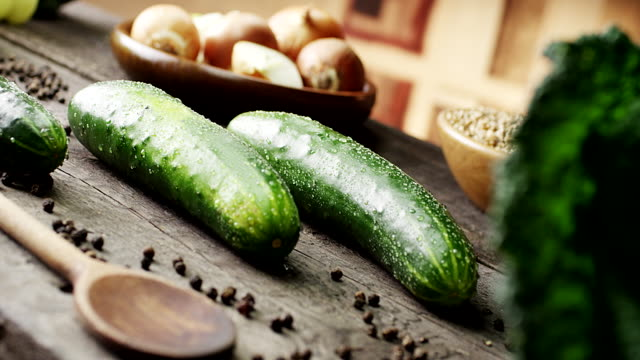 Cucumber Cucumber pickle stock videos & royalty-free footage
