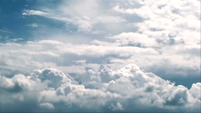 Cumulonimbus clouds in stomy sky video