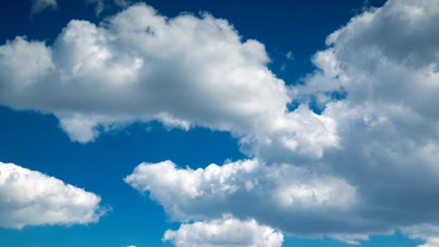 Cumulus Clouds Background Timelapse
