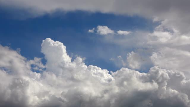 Cumulus Rain Clouds Moving Sky