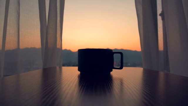 Cup of coffee or tea in the morning