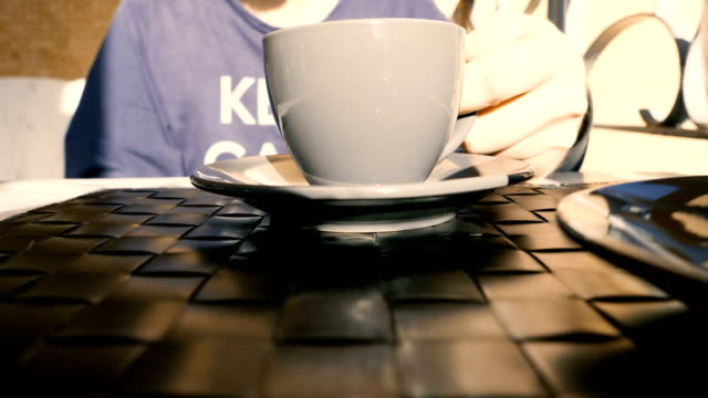 Cup of coffee.