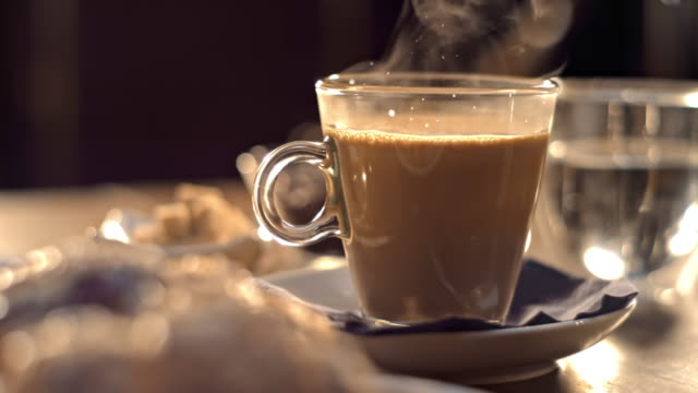 SLO MO LD Cup of hot beverage video