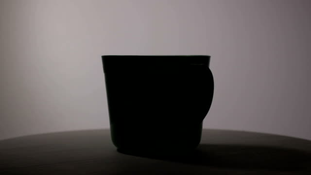 Cup of hot coffee or tea, isolated video