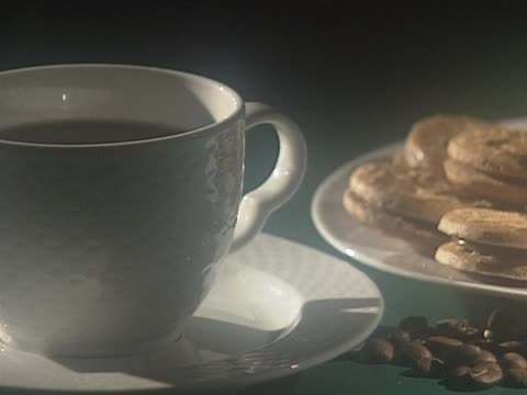 Cup of hot fresh coffee video