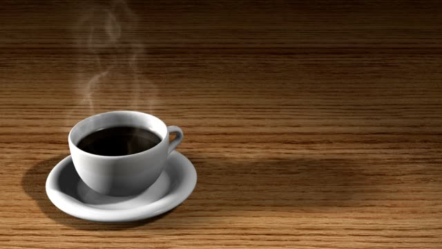 Cup of steaming hot coffee video
