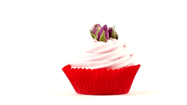 Cupcake with roses video