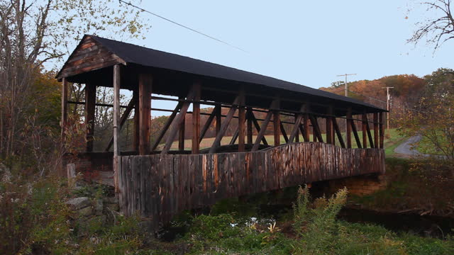 Cuppetts Covered Bridge in Pennsylvania, United States video
