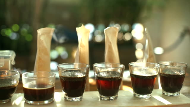 Cupping Coffee video