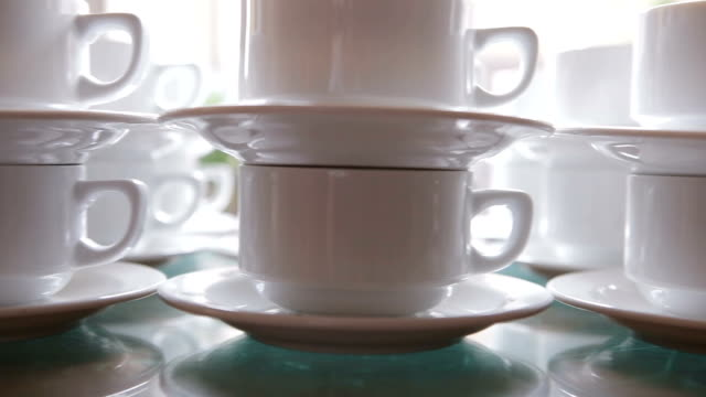 Cups in a row Cups in a row large group of objects stock videos & royalty-free footage