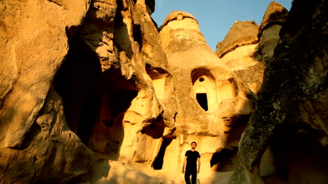 Curious Tourist Walking in The Ancient Place video