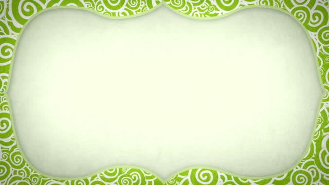 curles pattern frame seamless loop - empty plate bildbanksvideor och videomaterial från bakom kulisserna