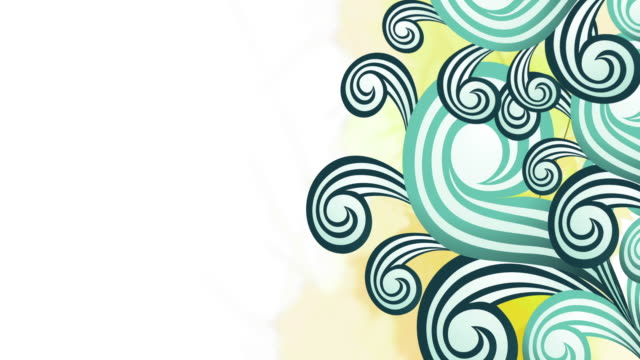 Curly Floral Animation - Loop video