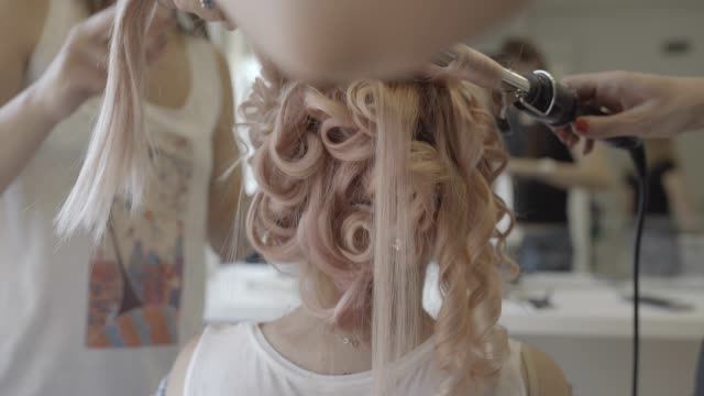 Curly hairstyle video