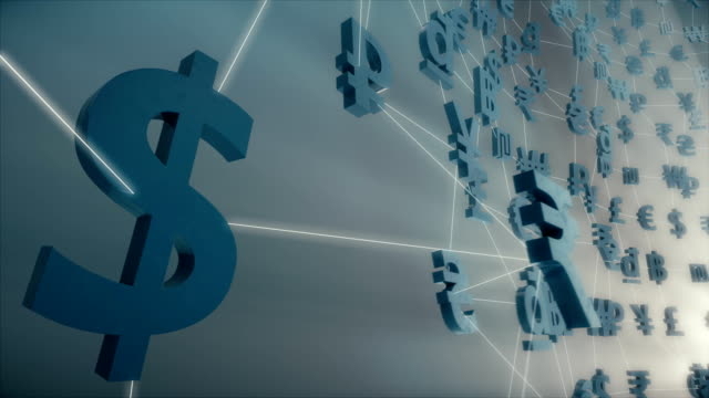 Currency / Forex / Fintech animation rendered at 16-bit color depth. video