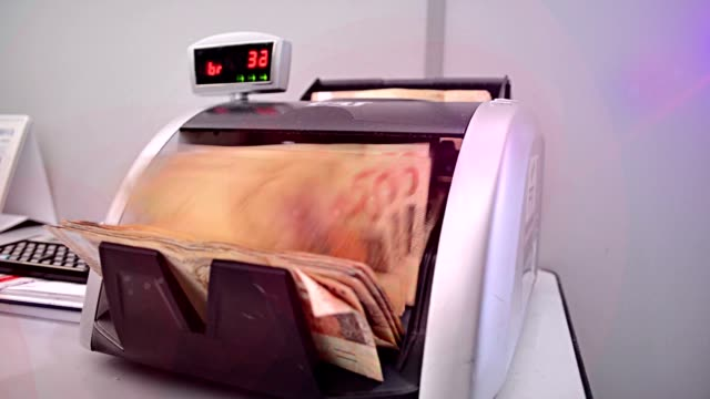 Currency-counting Machine is Counting video