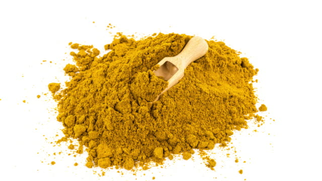 Curry Powder On White video