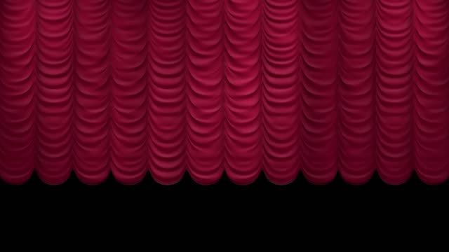 curtain opening. austrian style. 3d animation with matte - sipario video stock e b–roll