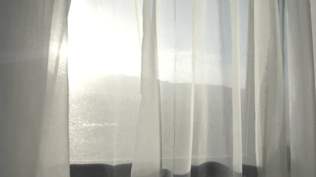 Curtain with beautiful sunlight