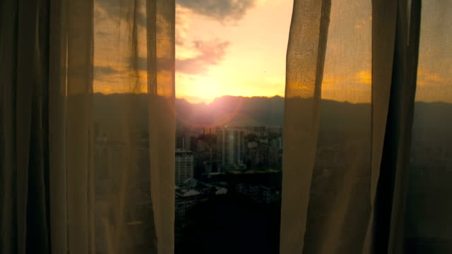 Curtains in the morning