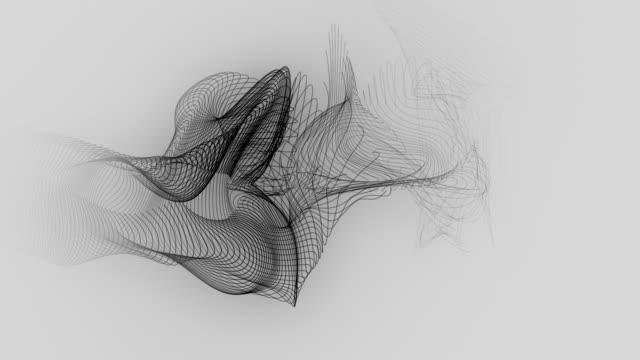 vídeos de stock, filmes e b-roll de curva de fluxo - organic shapes