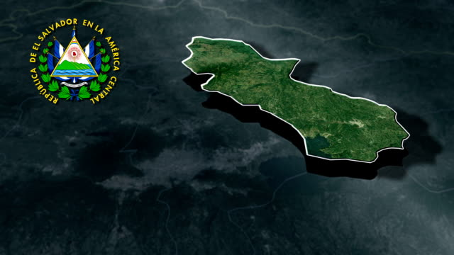 Cuscatlan with Coat Of Arms Animation Map