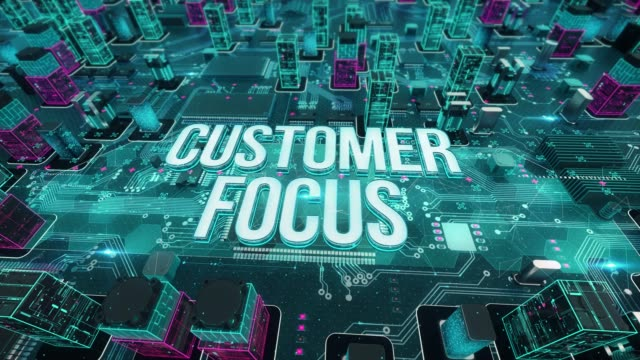 Customer focus with digital technology concept