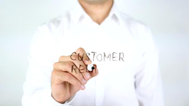 Customer Relation, Man Writing on Glass video