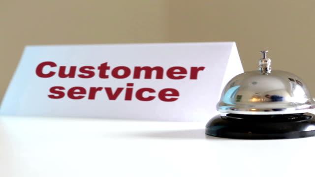 Customer service desk bell video