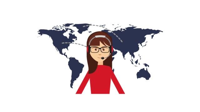 顧客サービスの人々 - 旅行代理店点の映像素材/bロール