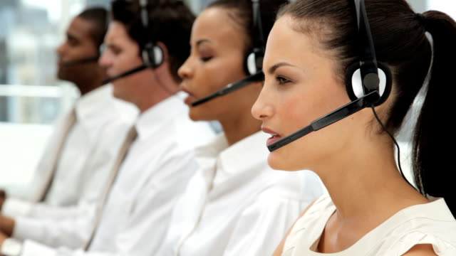 Customer Service Representatives at a Call Center video