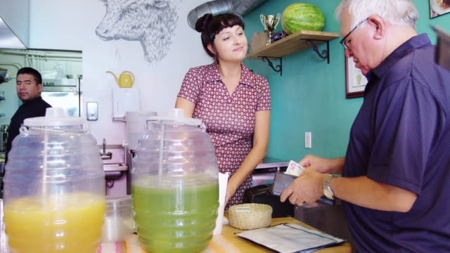 Customers Ordering in Taqueria video