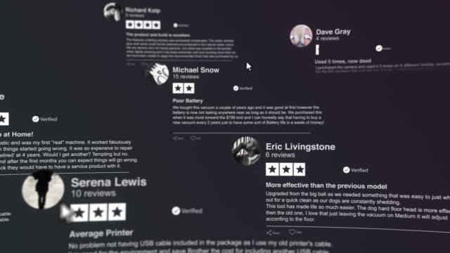 customers reviews - evaluation filmów i materiałów b-roll