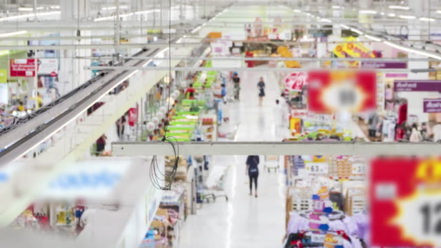 Customers shopping for goods at the check counter supermarket. video