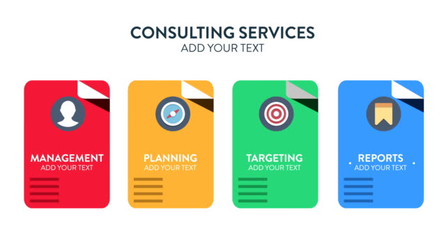 customizing promo  - consulting services concept - business symbols stock videos & royalty-free footage