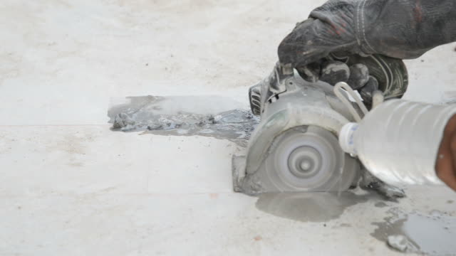 Cut Cement Floor for construction works video
