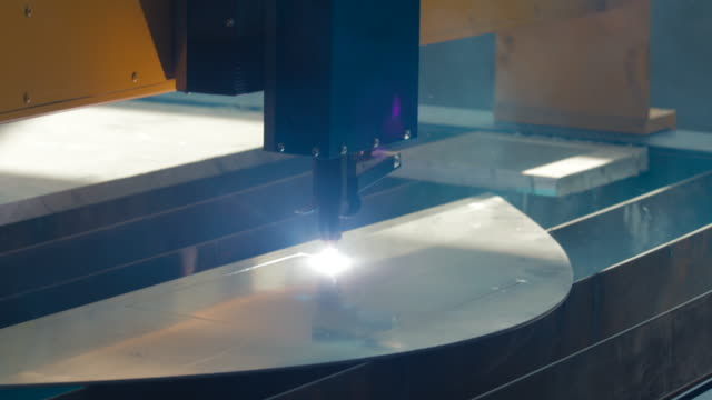 Cut sheet metal at workshop video