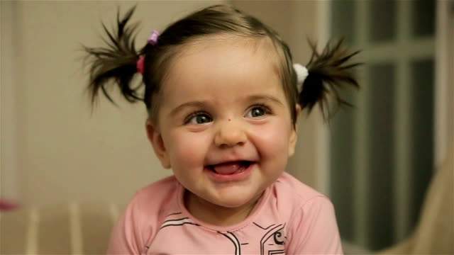 Cute adorable baby girl video