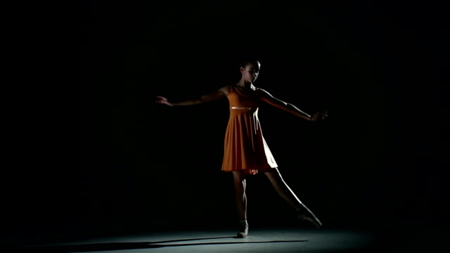 cute ballerina in dress large hall. slow motion little cute girl ballerina in dress in a blue suit standing in a large hall. slow motion ballet dancer stock videos & royalty-free footage