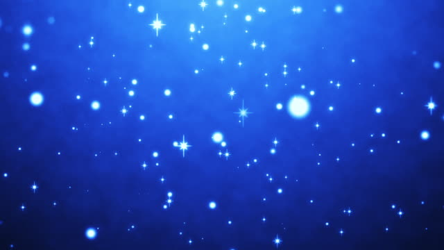 cute blue particles abstract background loopable - kawaii video stock e b–roll