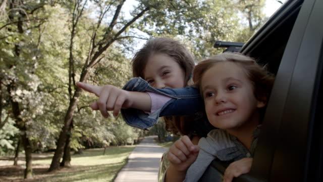 HD: Cute Children In Car.