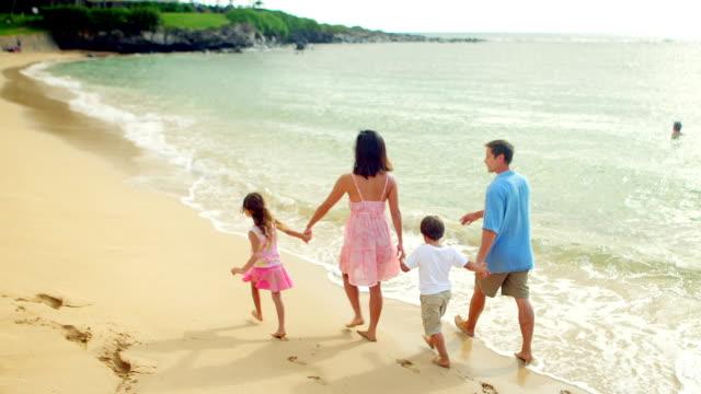Cute family walks togethe video