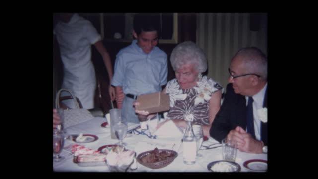 Cute grandson gives grandparents funny Anniversary present