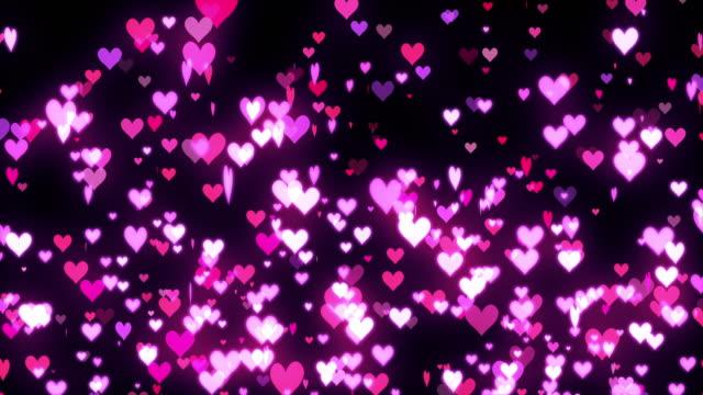 かわいいハートの形の回転[ループ] - 心臓点の映像素材/bロール