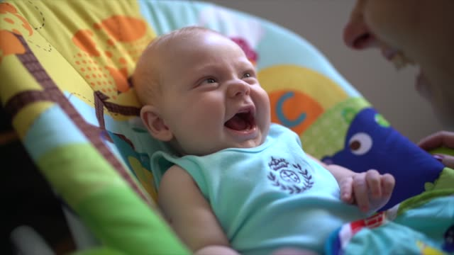 Cute Little baby laughing Newborn baby child care stock videos & royalty-free footage