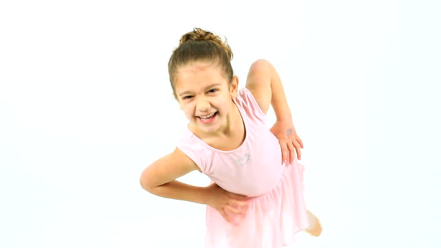 cute little ballet dancer - young singles stock videos and b-roll footage