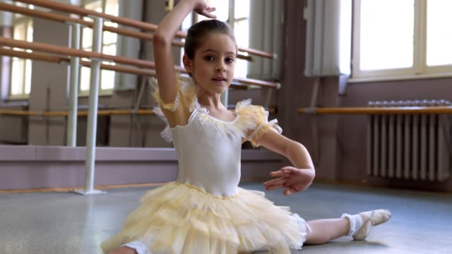 Cute little flexible ballet dancer
