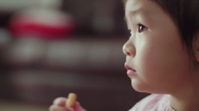 CU : Cute Little Girl Eating A Cookie video
