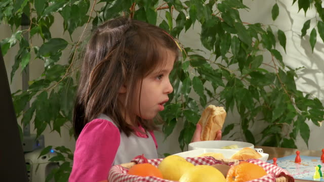 HD: Cute Little Girl Eating video