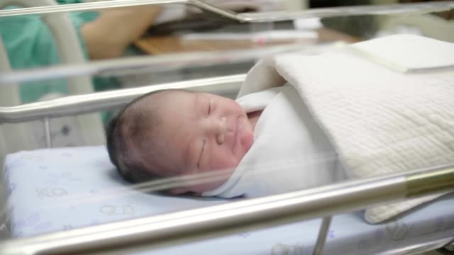 Cute little newborn baby boy(0-1 Months) sleeping